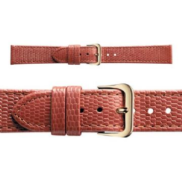 Genuine Lizard Grain Tan Leather Watch Strap
